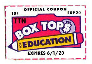 Box Top Update: Please send in by May 31st