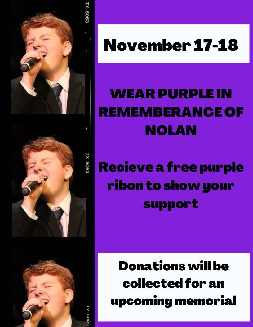 Nolan Gibbons Remembrance Days: 11/17 & 11/18