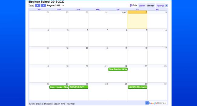 Rochester Public Schools Calendar.Sippican School Homepage